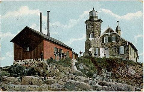 Passage Island Lighthouse near Isle Royale, Michigan