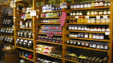 Jars Of Comestibles In The Butler Pantry Saugatuck Michigan