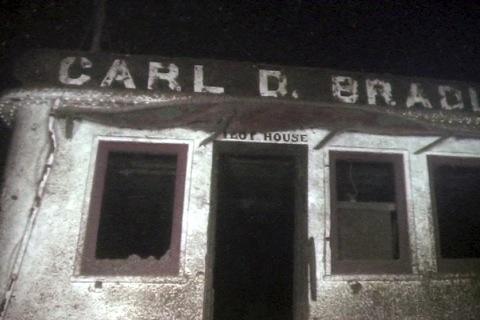 Pilot house of the sunken freighter Carl D. Bradley