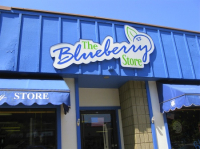 The Blueberry Store sign - South Haven, MI