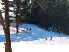 People skiing in southwest Michigan